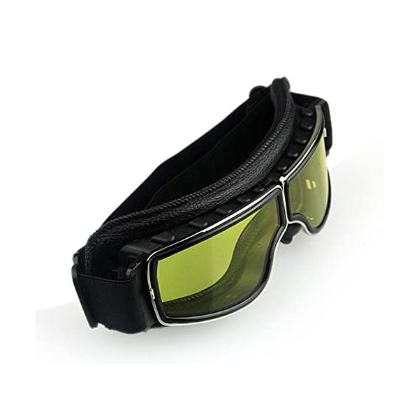 Masque moto Biker Noir et verres jaune 5