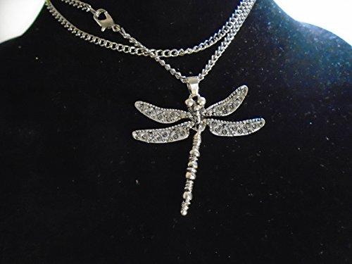 Halskette aus Silber mit Libelle einzige flexible Schwanz. Anhänger flach in Silber 925nk. echte Zigeuner Key westgypsy, Garantie 10Jahre Neu mit Etikett, Made in - Jahr-etiketten
