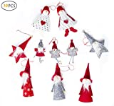 Fortuning'sJDS 10Pcs Natale Mini Multi Pendente della Bambola Babbo Natale Appeso Decorazioni Albero