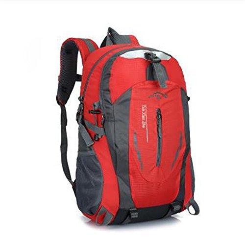 Dlflyb Große Kapazität Rucksack Outdoor Bergsteigen Tasche Männer Und Frauen Reisen Mit Rucksack Große Kapazität 40 L Rucksack gules
