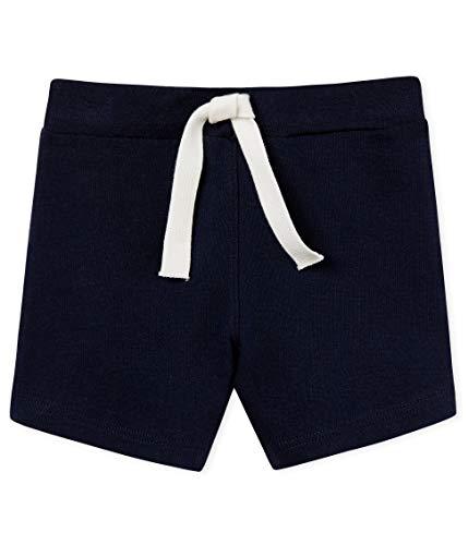 Petit Bateau Baby - Jungen Shorts 4854403, Blau (Smoking 03), 62 (Herstellergröße: 3M/60cm) -