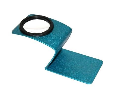 Carson Wave 5 fach Designer-Standlupe (blau)