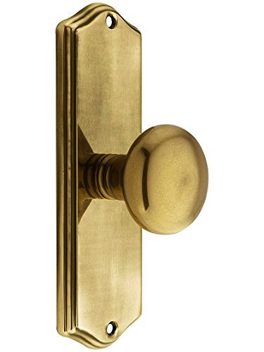Providence Dummy (Colonial Revival Door Set With Providence Knobs Double Dummy In Antique Brass. Antique Hardware Knobs. by Emtek)