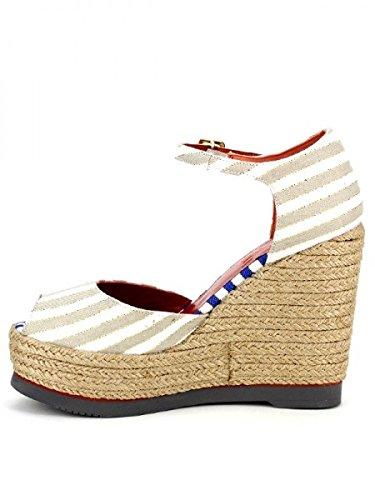 Cendriyon, Compensées Beige Cuir FALBALA Chaussures Femme Beige
