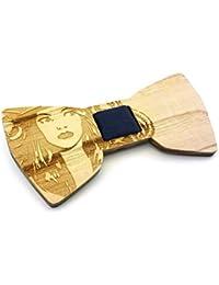 GIGETTO Noeud papillon en bois , Fait main, Homme Femme, Limited Edition POP!