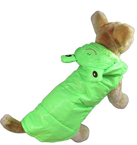 Evergreen Grün (Evergreens grün Baumwolle Frosch Stil Pet Hunde Fell L)