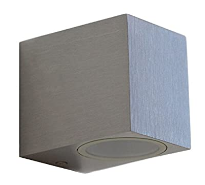 Aluminium Finely Finished Mini Cube Single Outdoor Wall Light Fixture GU10 ZLC066AB from Long Life Lamp Company