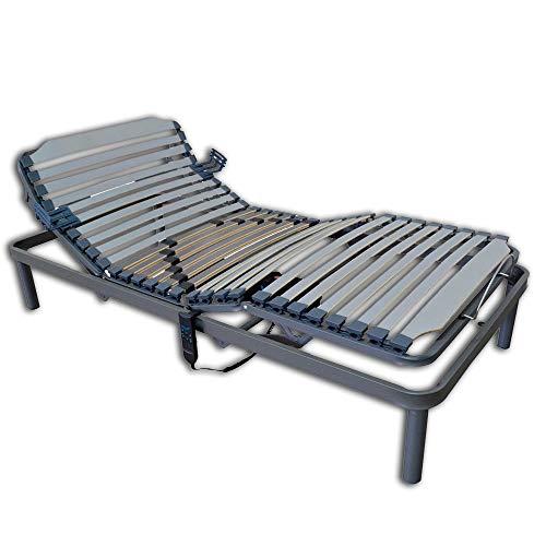 Duermete Cama Articulada Eléctrica 5 Planos Bastidor Reforzado y Taco de Caucho, Haya, 90 x 200