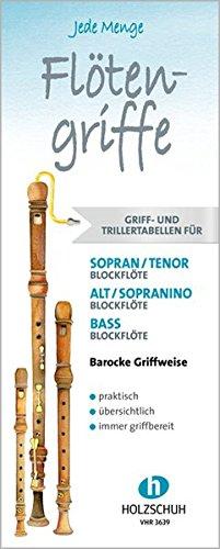 Jede Menge Flötengriffe: Griff- und Trillertabellen barocke Griffweise im Set