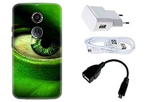 Spygen Motorola Moto X3 (3rd Gen) Case Combo of Premium Quality Designer Printed 3D Lightweight Slim Matte Finish Hard Case Back Cover + Charger Adapter + High Speed Data Cable + Premium Quality OTG