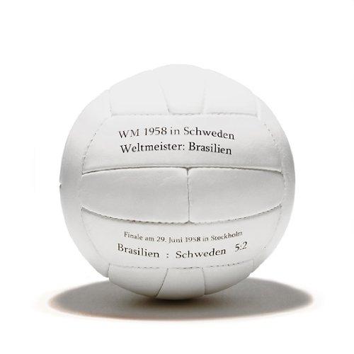 1 BALL 4 YOU WM Fußball Retro - LEDERBALL 1958 mit Aufdruck -