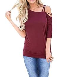 Porlous - Camiseta - Túnica - Manga Corta - Mujer