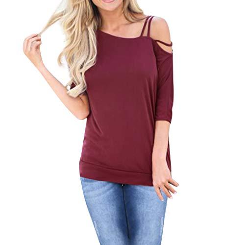Porlous Damen Tunika T-Shirt Gr. Small, Rot