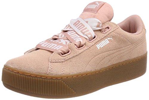 Puma Damen Vikky Platform Ribbon Bold Sneaker, Beige (Peach Beige), 37 EU (Good Feet Store-schuhe)