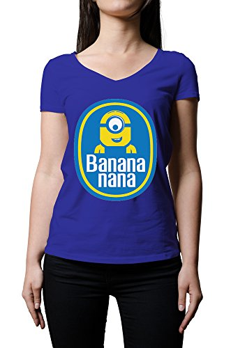 despicable-me-chiquita-bananas-inspired-minion-funny-logo-womens-v-neck-t-shirt-small