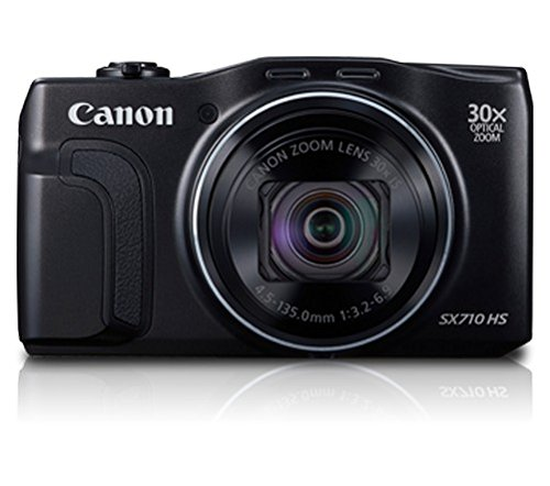 Canon SX710 HS 20.3MP Point and Shoot Digital Camera (Black) with 30x Optical Zoom