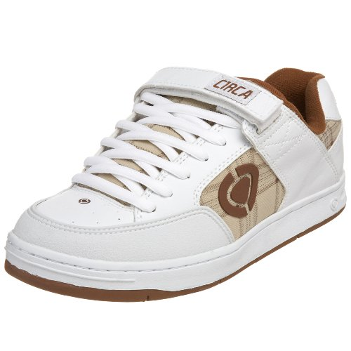 C1RCA - Scarpe sportive - Skateboard, Uomo, Bianco (White/Brown/Plaid), 37 (4 uk)
