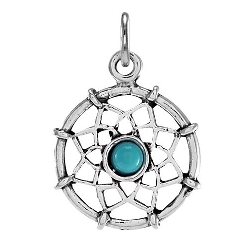 TheCharmWorks Sterlingsilber Traumfänger Charmanhänger | Sterling Silver Dream Catcher Charm