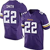 ZJFSL Herren NFL Trikot Minnesota Vikings # 55# 28# 26# 22 Elite Edition Besticktes American Football Trikot Kurzarm Sport Top T-Shirt,purple-22,M