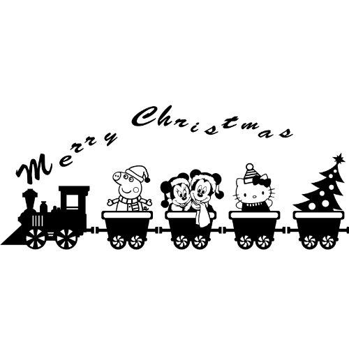 Train (43cm x 150cm) mit Peppa Pig, Mickey Mouse und Minnie Mouse, Hello Kitty, Weihnachtsbaum wählen Farbe 18Farben in Lager Childs Schlafzimmer, Auto Vinyl-, Windows und Wandtattoo, Wand Windows Art, Weihnachten, Decals, Ornament Vinyl Sticker ThatVinylPlace (Hello Kitty Window Decal)