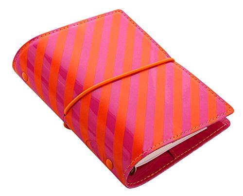 filofax-pocket-domino-patent-organiser-arancione-rosa-a-strisce