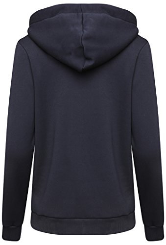 Hype ricamato donna pullover con cappuccio - Navy/Bianco - Navy/Bianco, 8