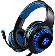 Pacrate Gaming Headset for PS4 PC Xbox One Headset with Microphone Noice Cancelling Stereo Surround Sound Head