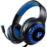Auriculares Gaming PS4 Auriculares con Micrófono, Reducción de Ruido, Sonido Envolvente, Auriculares con Cable para...