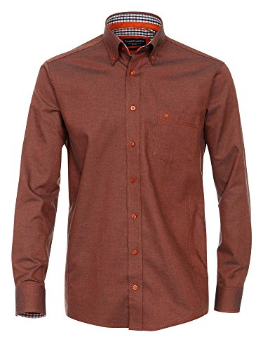 CASAMODA Herren Businesshemd 431794000 Regular Fit bügelleicht Dunkelorange