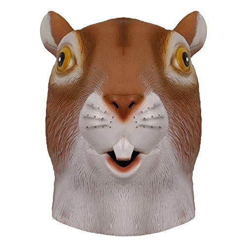 molezu la máscara Ardilla Lindo, Halloween Disfraz de látex la Cabeza Animal máscara Adultos.