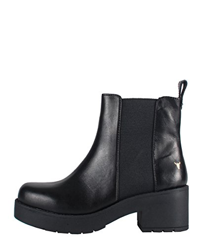 Windsor Smith Eagar Boots Black - Stivaletti Neri In Pelle Con Elastico