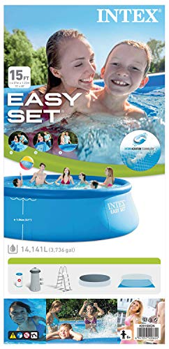 Intex Easy Set Aufstellpool, blau, Ø 457 x 122 cm - 10