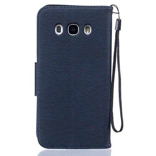 BoxTii® Custodia di pelle per iPhone 6/iPhone 6s, con pellicola in vetro temperato inclusa, chiusura magnetica a libro, con scomparti per carte di credito e denaro, supporto con funzione cavalletto, m #8 Blue