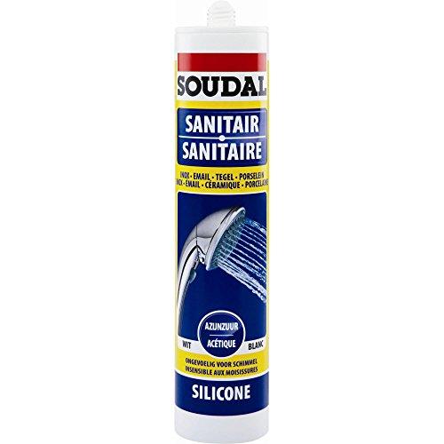 Preisvergleich Produktbild Soudal Silikon für Sanitär, neutral, Kunstfaser, 310 ml