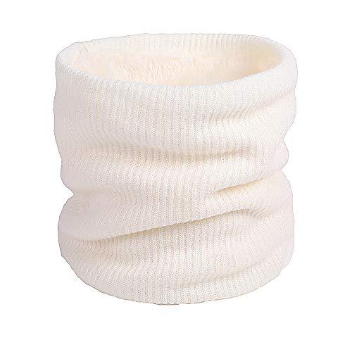 Luoistu sciarpa uomo invernali sciarpa invernale a righe a maglia morbida calda per uomo e donna,unisex sciarpa in maglia con lana(bianco)