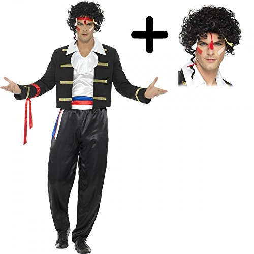 Adults Adam Ant Costume with Wig