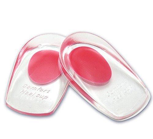 Footful 1Paar Gel Ferse Cups Ferse Unterstützung Pads Kissen für Plantarfasziitis Ferse Schmerzen --- Vereinigtes königreich3,5-6,5 -
