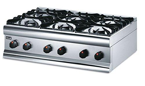 Lincat Silverlink 600 Kocher TOP 6 Brenner modulär 600mm tief Leicht Mittel Last Prime Kochen Zubehör Abmessungen 305(H) x 900 (W) x 600 (D) mm Leistung: 27 kw Gewicht: 40 kg -