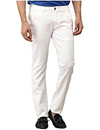 Urbano Fashion White Slim Fit Stretch Jeans for Men