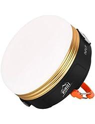 HiHiLL MINI LED de Camping Recargable 3W,LUZ de noche Impermeable y Pendiente Salida de USB, con Imán para Emergencia Senderismo, Aventura (LT-CL1)
