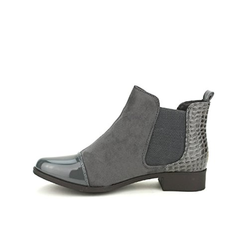 Cendriyon Bottine Grise BI Matière C'M Moda Chaussures Femme Gris