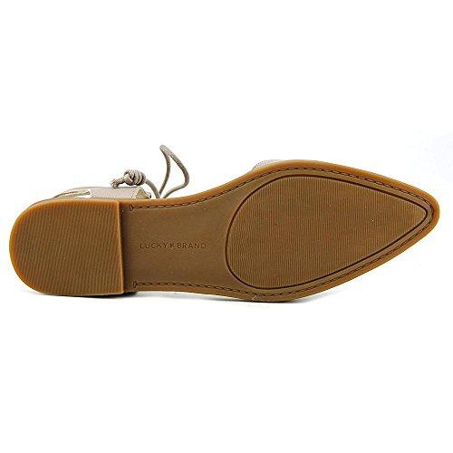 Lucky Brand Mabonnee Cuir Chaussure Plate Cobblestone