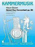 Grand Duo Concertant: (Große Sonate A-Dur). op. 85. Flöte (Violine) und Gitarre. (Kammermusik)
