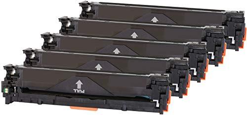 TONER EXPERTE® 5 Toner kompatibel für HP Laserjet Pro MFP M251n M251nw M276n M276nw CM1312 CM1312nfi CP1215n CP1518ni CM1415 CM1415FN CM1415FNW CP1525N CP1525NW (Schwarz: 2400 & Colours: 1800 Seiten) (Hp Toner-kassette Drucker Mit)