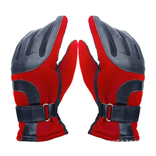 b2c3b56b3f8edc YOYGADING Handschuhe Männer Winterhandschuhe Stilvoll Warm zum Radfahren  Skifahren Motorrad Handschuhe,Rot, 25cm