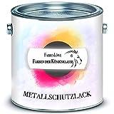 FARBENLÖWE hochmoderner Metallschutzlack glänzend Farbauswahl Metallschutzfarbe - besonders robuster Metalllack/Metallfarbe (2,5 L, Anthrazitgrau RAL 7016)