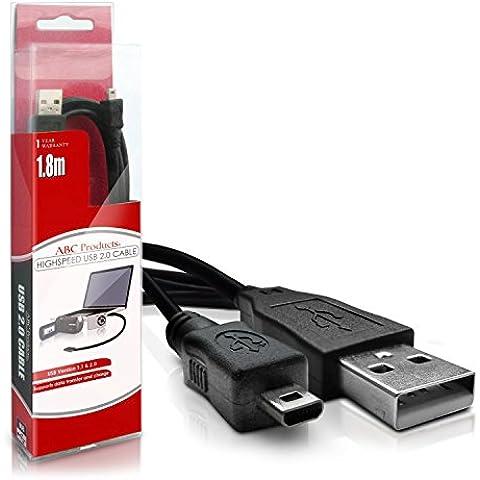 ABC Products® Cavo USB Pentax (per Image Transfer / Caricabatteria - supporta la ricarica in alcuni modelli) per alcuni Fotocamera Optio digitale serie (modelli indicati di
