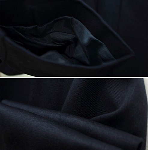 Herbst Und Winter Größe Langer Absatz Art Und Weise Am Revers Gürtel Jackenmantel Weibliche Mehrfarben Darkblue
