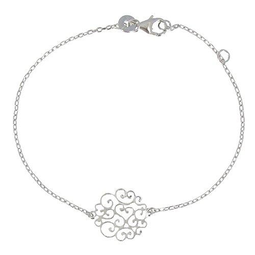 Schmuck Les Poulettes - Armband Rosette Sterling Silber -
