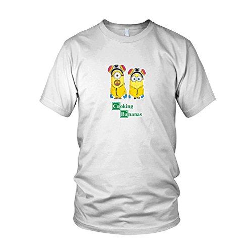Chemiker Kostüm Bad - Cooking Bananas - Herren T-Shirt, Größe: L, Farbe: weiß
